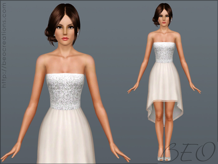 Cocktail dress for Sims 3 by BEO