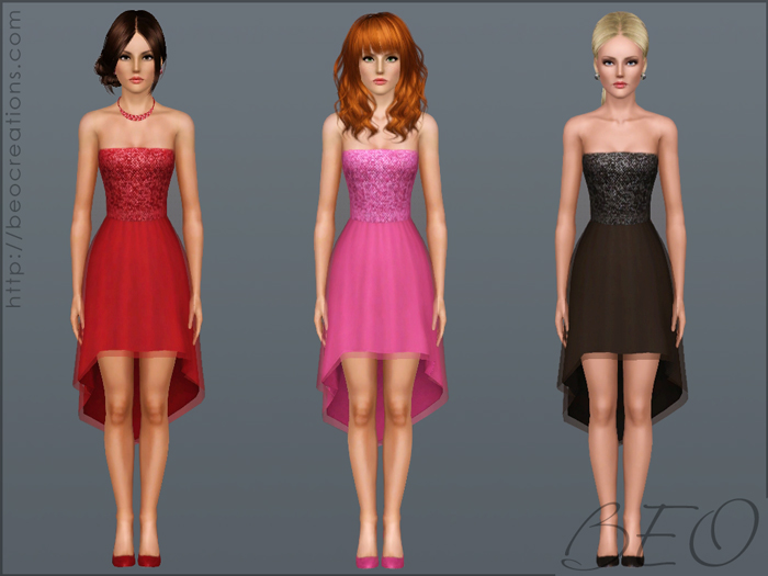 Cocktail dresss for The Sims 3 by BEO (2)