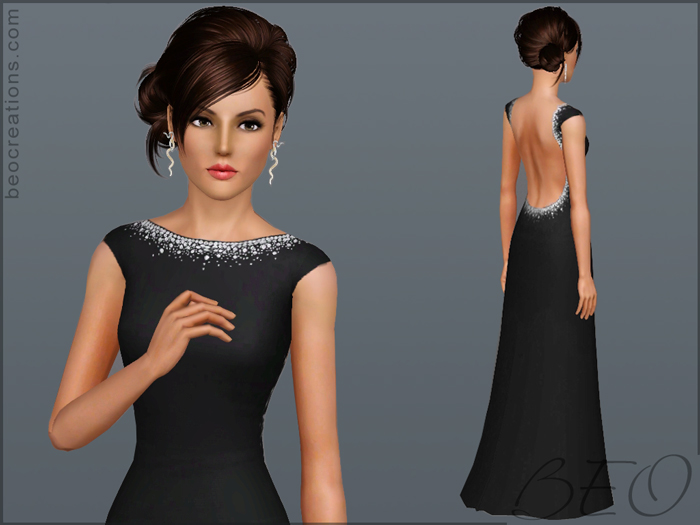 Dress with crystals for Sims 3 by BEO