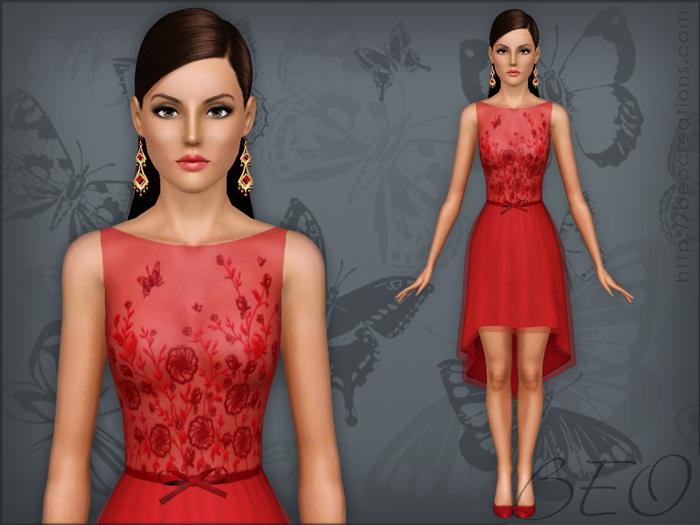 Dress 025 for The Sims 3 by BEO