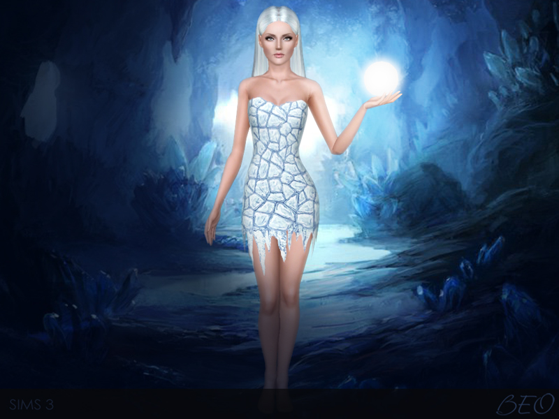 Flame and Ice dress for Sims 3 by BEO (1)