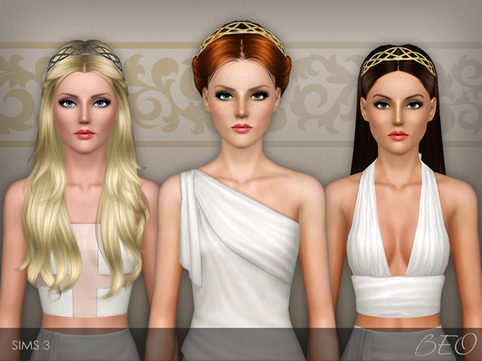 Forged metallic headband for The Sims 3 by BEO (2)