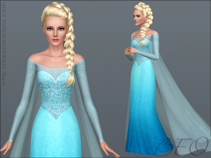 Elsa's dress (Frozen) for Sims 3 by BEO
