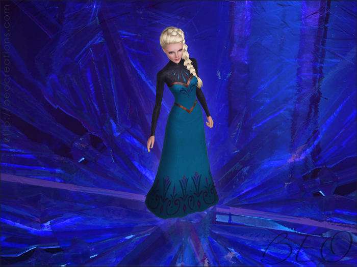 Elsa's coronation dress (Frozen) for The Sims 3 by BEO
