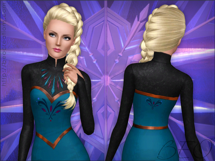 Frozen - Elsa's coronation dress for Sims 3 by BEO (6)