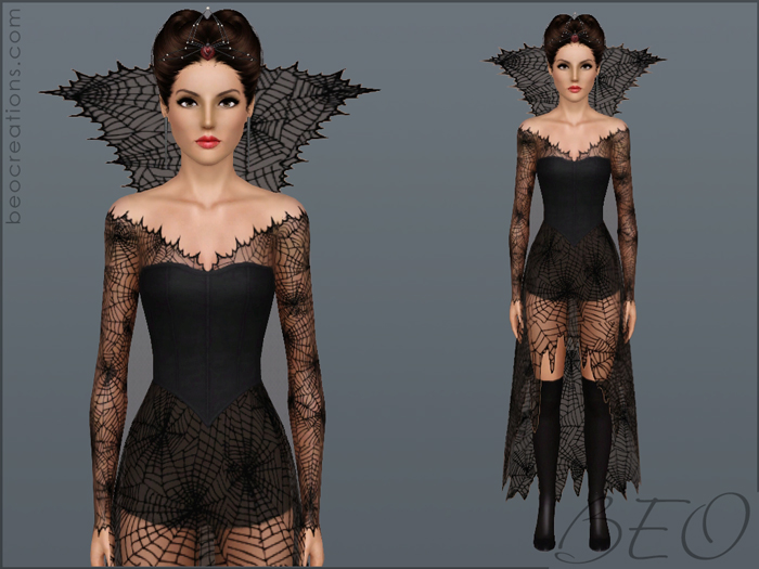 Halloween dress 2 for Sims 3 by BEO