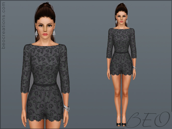 lace overall for Sims 3 by BEO