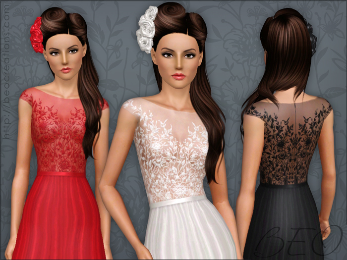 long formal dress 03 for The Sims 3 by BEO