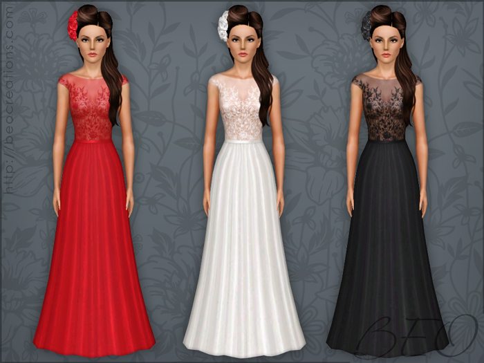 Long formal dress 03 for The Sims 3 by BEO (2)