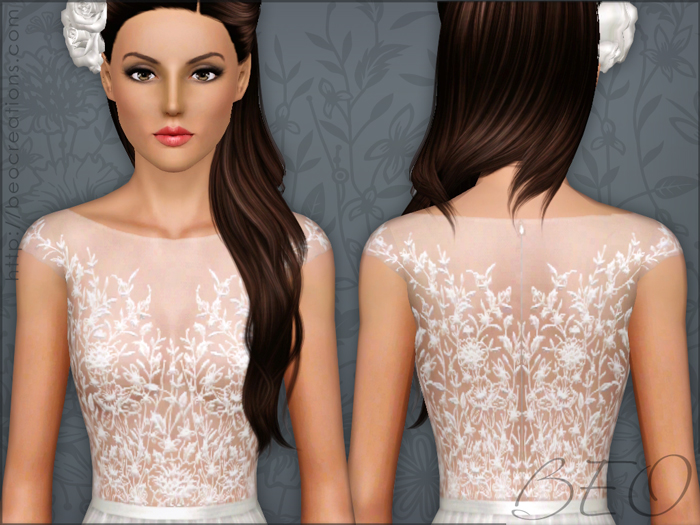 Long formal dress 03 for The Sims 3 by BEO (3)