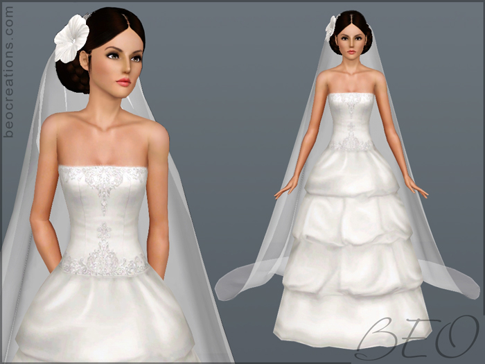 Sims 4 Wedding Veil.Beo Creations Accessories