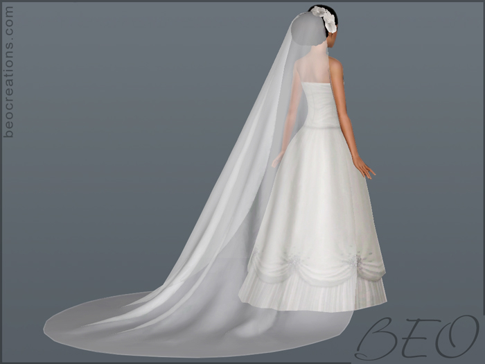 long veil for Sims 3 by BEO
