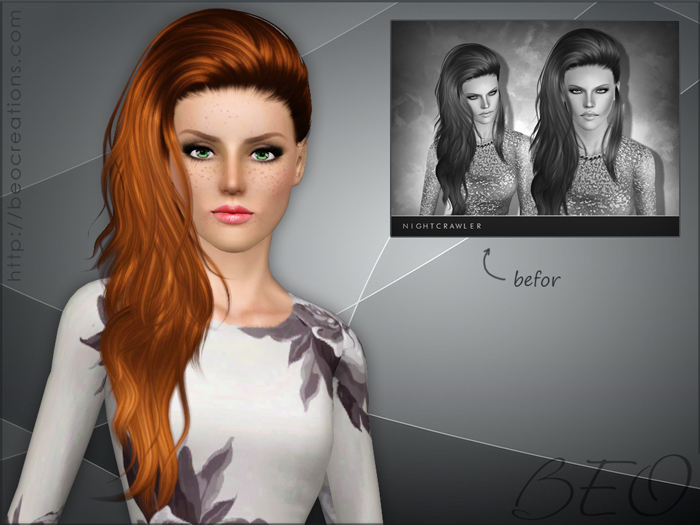 Modified Nightcrawler hair 23 for The Sims 3 by BEO