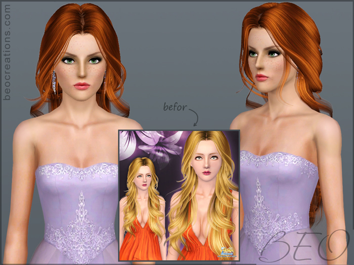 modified Peggy's hair #000070 for Sims 3 by BEO