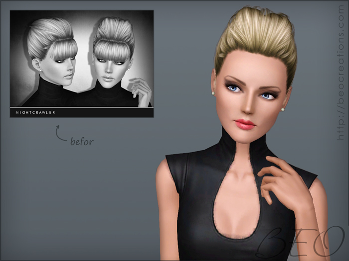 Modified Nightcrawler hair 13 for Sims 3 by BEO