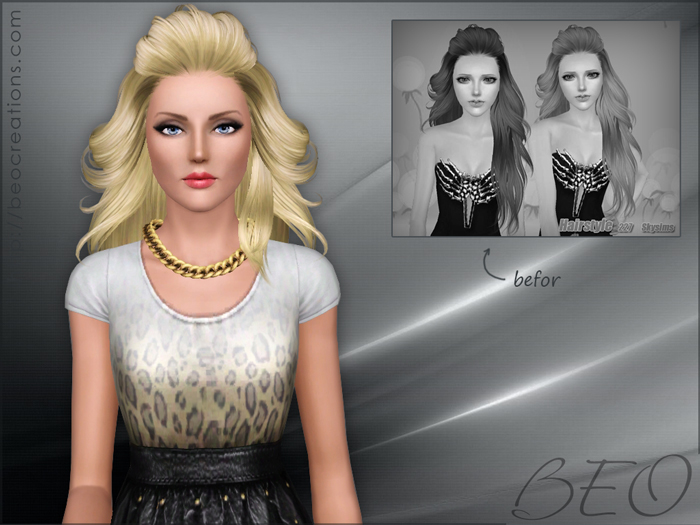 Modified Skysims hair 227 for The Sims 3 by BEO