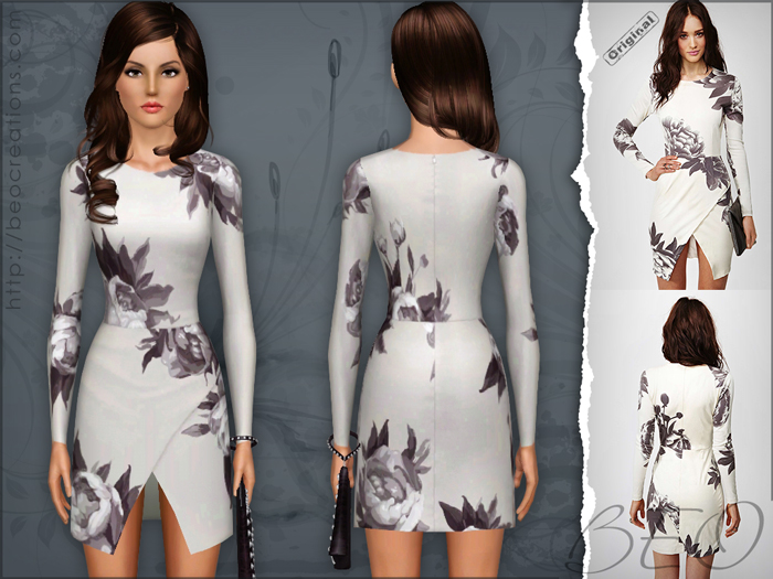 Nasty Gal dress for The Sims 3 by BEO