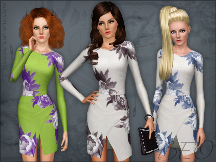 nasty gal dress for Sims 3 by BEO (2)