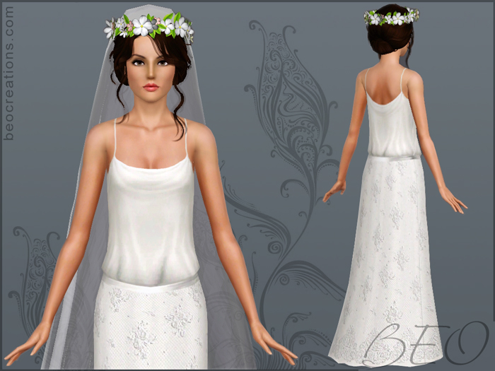 Romantic bride for Sims 3 by BEO