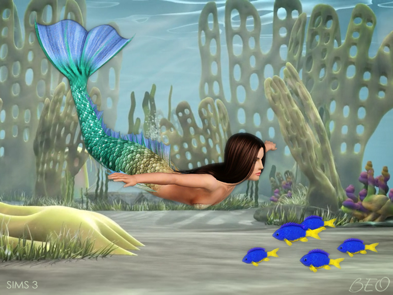 Mermaid tail v.2 for The Sims 4 by BEO (2)