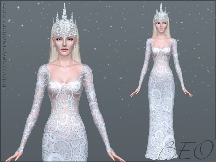 Snow queen for Sims 3 by BEO (4)