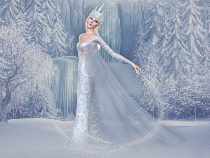 Snow queen for Sims 3 by BEO