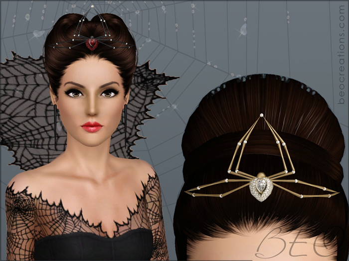 Spider tiara for Sims 3 by BEO