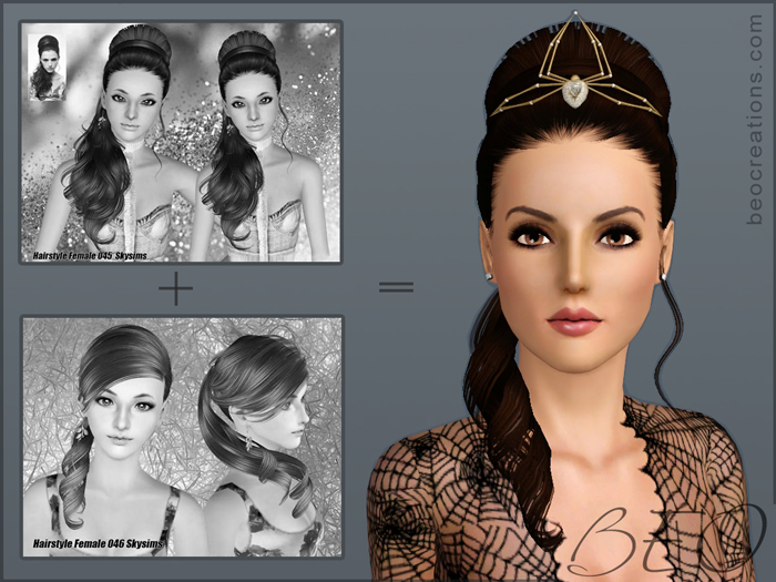 synthesis Skysims hairstyles 045-046 for Sims 3 by BEO