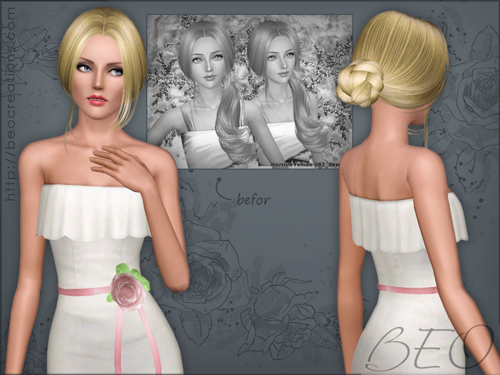 Synthesis Skysims hairstyles 083-143 for Sims 3 by BEO