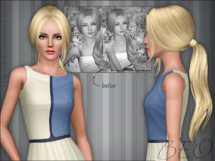 Synthesis Skysims hairstyles 083-208 for Sims 3 by BEO