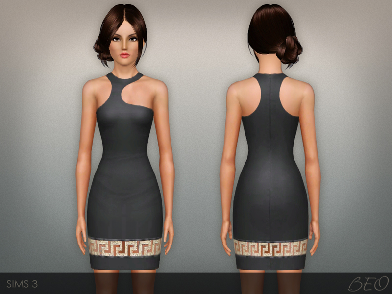 Greca Mini Dress for The Sims 3 by BEO