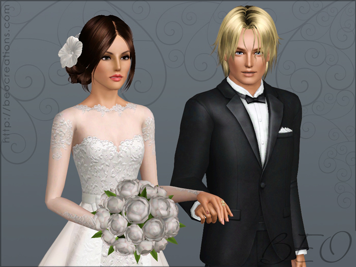 Wedding bouquet for Sims 3 by BEO