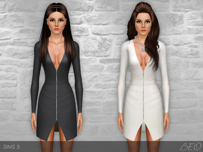 Zip Front Dress for Sims 3 by BEO