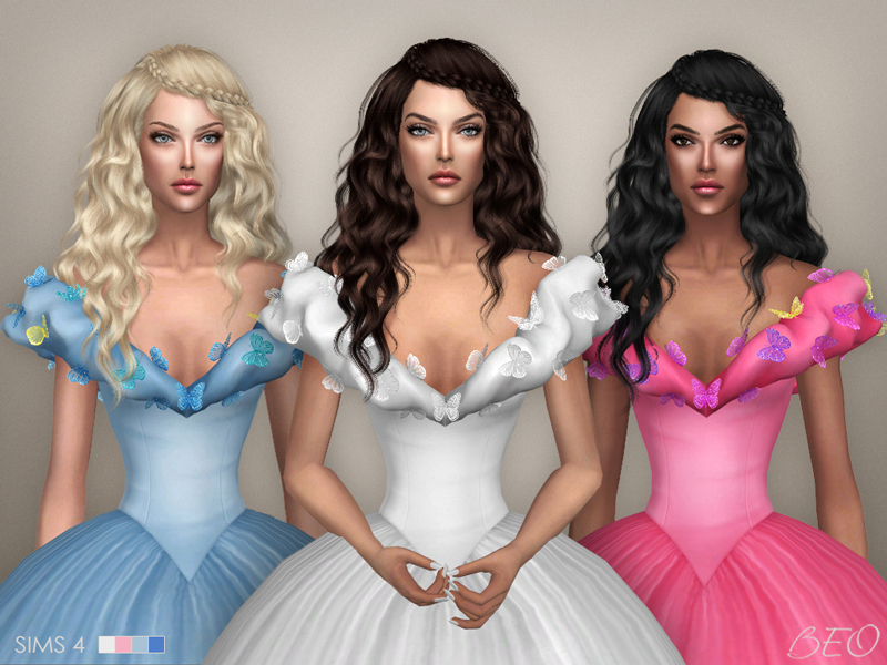Cinderella (2015) - butterflies dress for The Sims 4 by BEO (3)