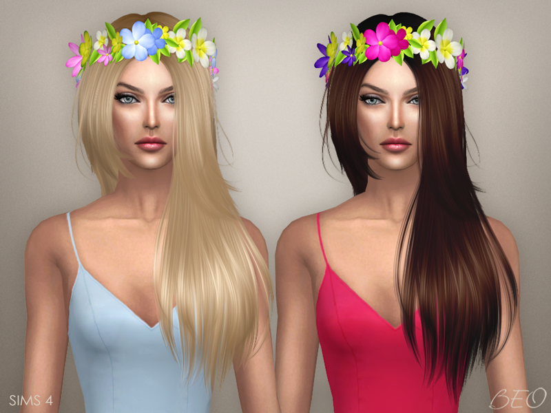 Circlet of flowers for The Sims 4 by BEO