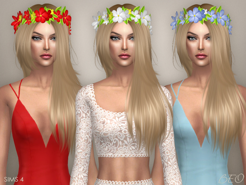 Circlet of flowers for The Sims 4 by BEO (2)