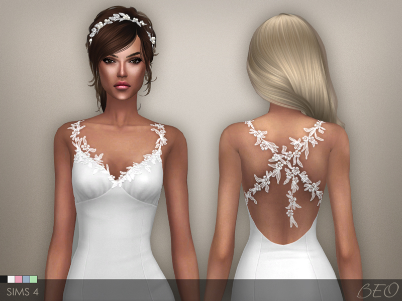 Dress - Claire for The Sims 4 by BEO
