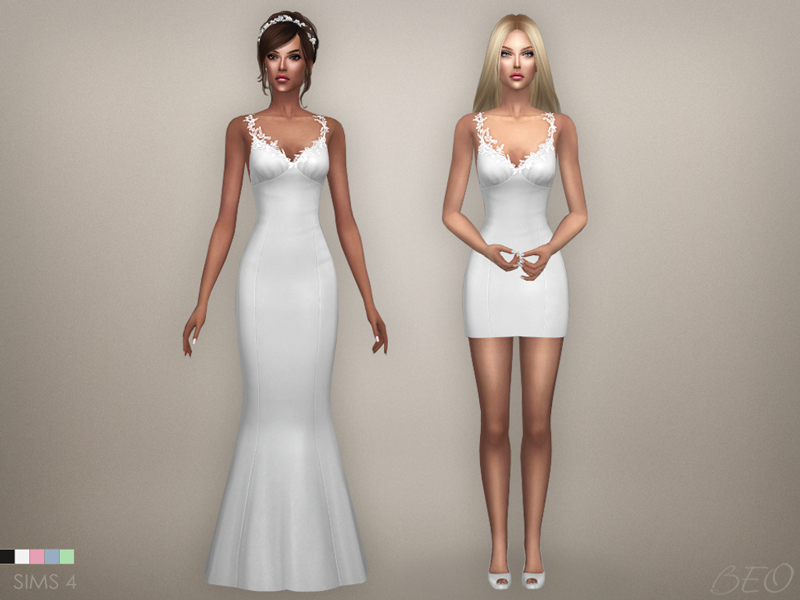Wedding dress - Claire for The Sims 4 by BEO (2)