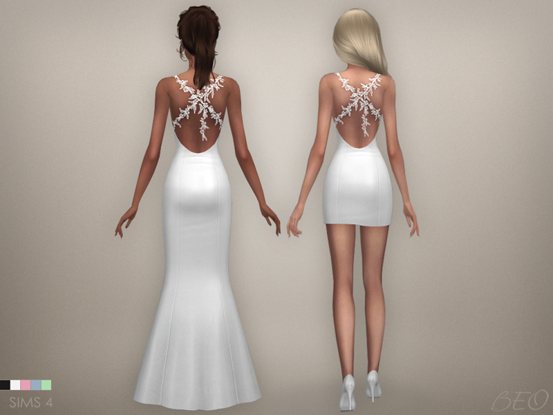 Wedding dress - Claire for The Sims 4 by BEO (3)
