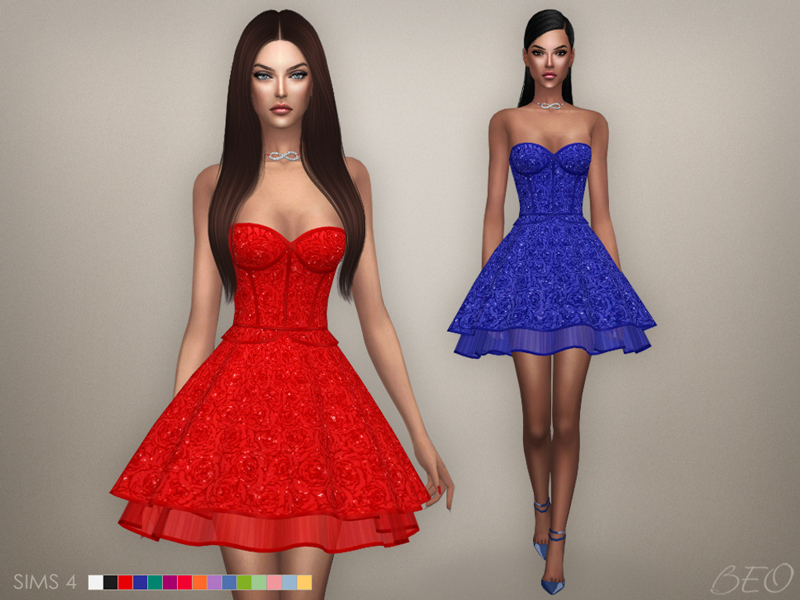 Cristina collection - Baby-doll dress for The Sims 4 by BEO (1)