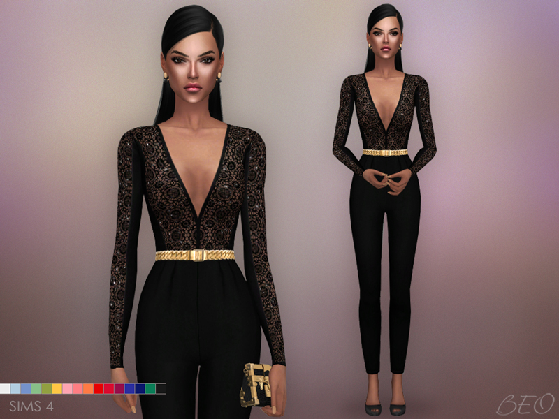 Jumpsuit - Sara for The Sims 4 by BEO