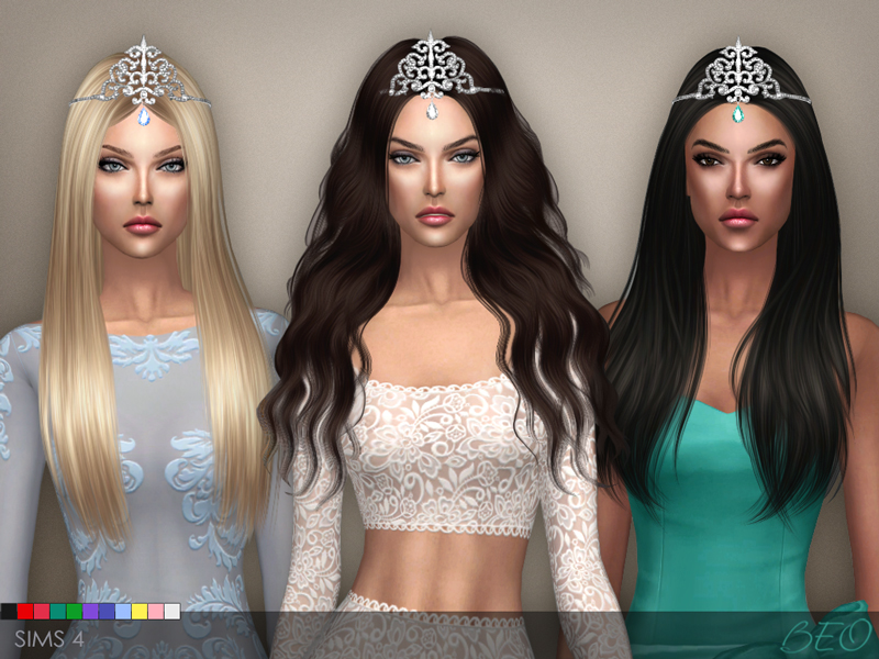 Tiara - Crystal Drop for The Sims 4 by BEO