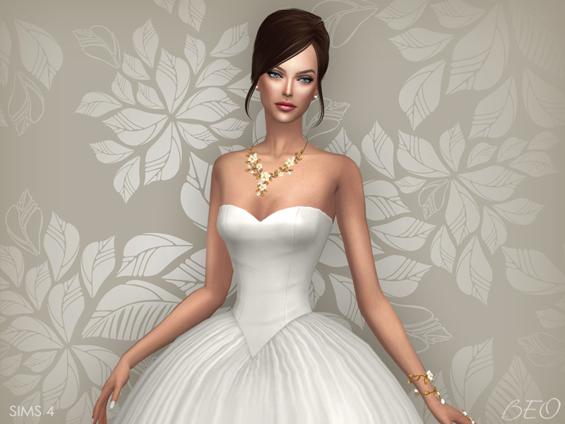 Wedding dress - Cindy for The Sims 4 by BEO