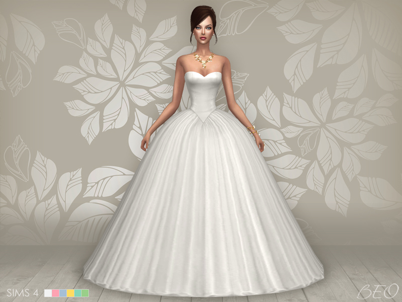 Wedding dress - Cindy for The Sims 4 by BEO (2)