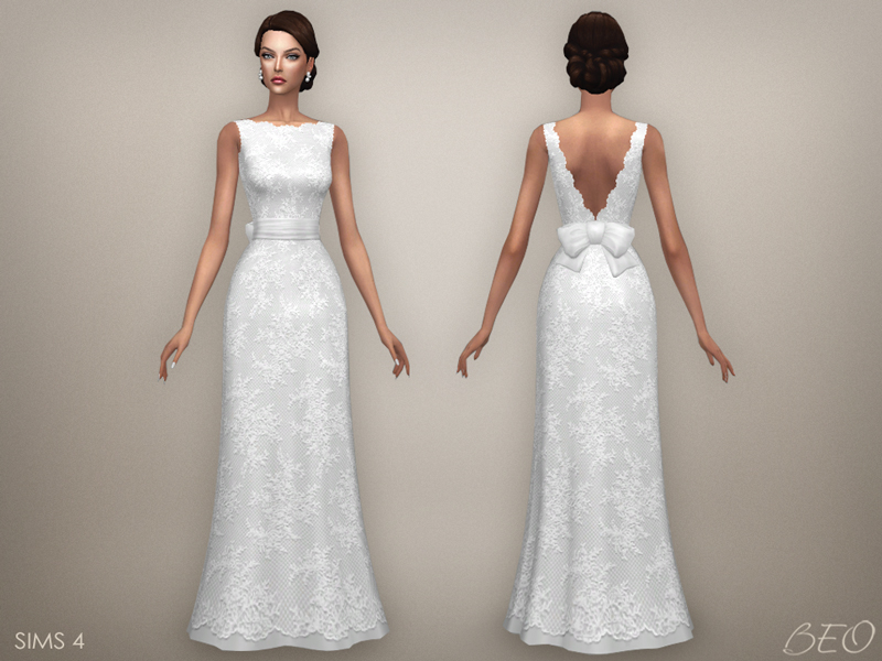 Wedding dress - Ellie for The Sims 4 by BEO (3)