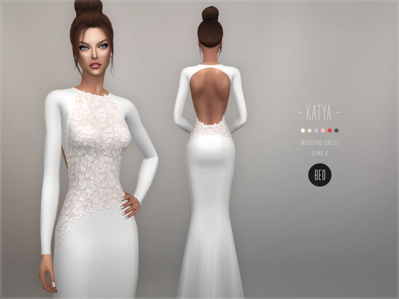 Wedding dress - Katya for The Sims 4 by BEO