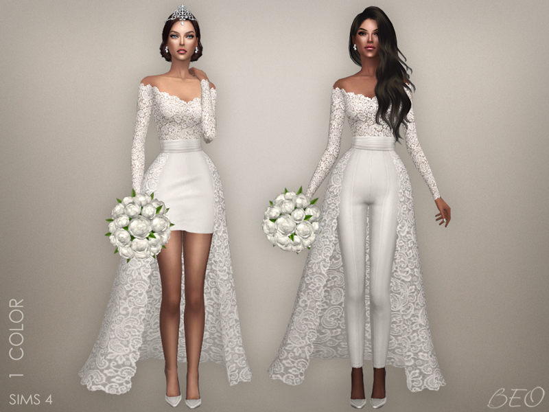 Wedding collection - Lorena for The Sims 4 by BEO