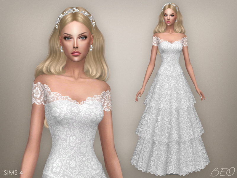 Wedding dress - Vintage for The Sims 4 by BEO